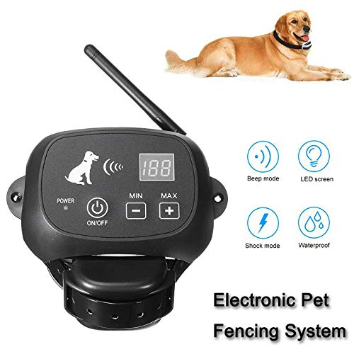 Electric Dog Fence,Waterproof Rechargeable Wireless Pet Dog Pet...