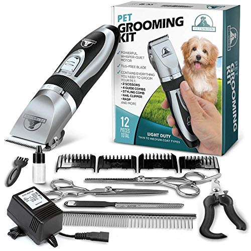 Pet Union Professional Dog Grooming Kit - Rechargeable, Cordless...