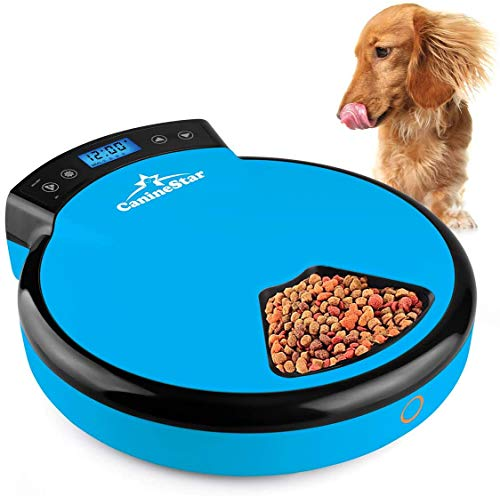 Automatic Pet Feeder for Cats Dogs, 5 Meal Food Dispenser Trays Cat...
