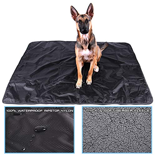 Max and Neo Waterproof Sherpa Fleece Dog Blanket - One Side Soft...