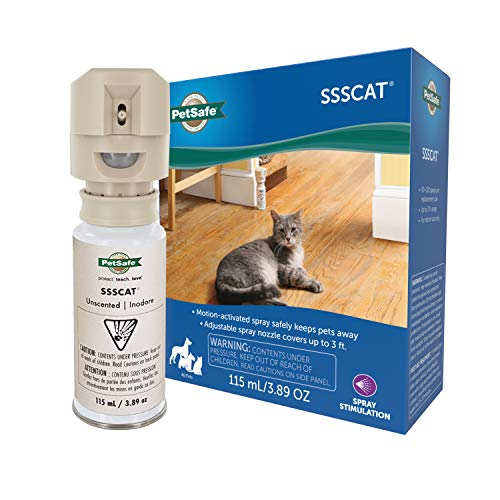 PetSafe SSSCAT Spray Pet Deterrent, Motion Activated Pet Proofing Repellent for Cats and Dogs,...