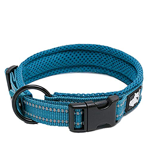 TRUE LOVE Dog Collar Reflective Premium Duraflex Buckle,High Grade Nylon Webbing No Choke Basic...