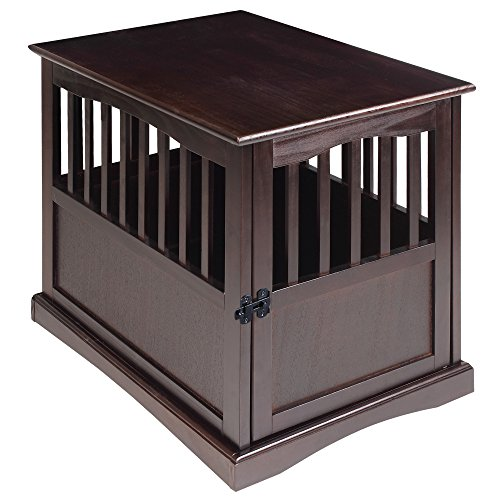 Casual Home Wooden Medium Pet Crate, End...