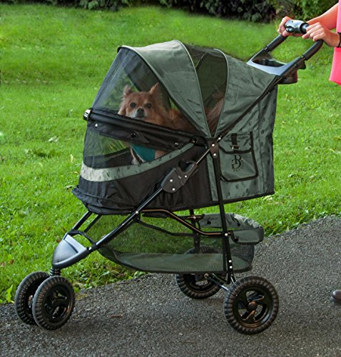 Pet Gear No-Zip Special Edition 3 Wheel Pet Stroller for Cats/Dogs,...