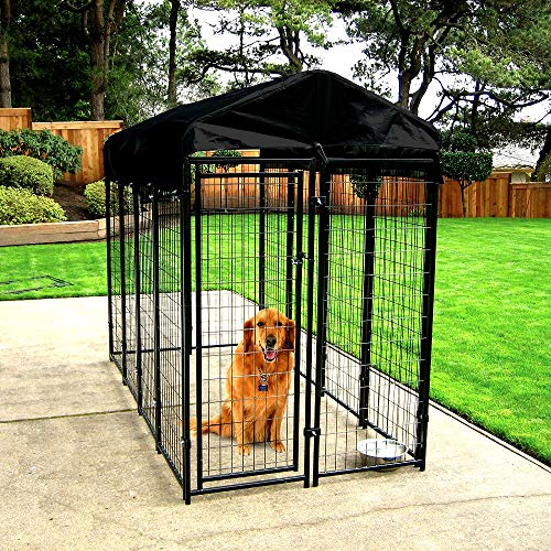 Kennel for Dogs Outdoor Welded Wire Big Dogs with Free Cover Durable...