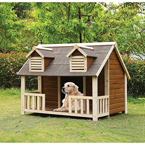 Medium Dog House with Porch Pet Puppy...