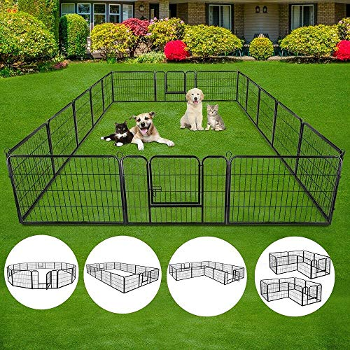 S AFSTAR Dog Pen, 40/48 inch Pet Puppy...
