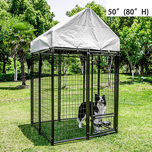 DOIT Heavy Duty Dog Cage Strong Metal Kennel XL, Large Animal Crate...