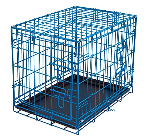 Internet's Best Wire Dog Kennel - Small (24 Inches) - Double Door...