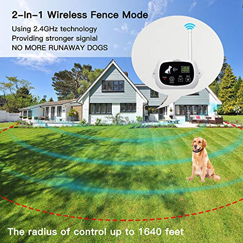 NACRL Wireless Dog Fence, Pet Containment System, Up to 1640 Feet...